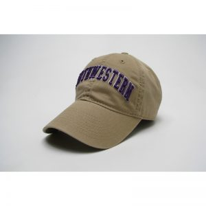 Northwestern Wildcats Legacy Unconstructed Fitted Golden Khaki Hat with Arched Northwestern Design