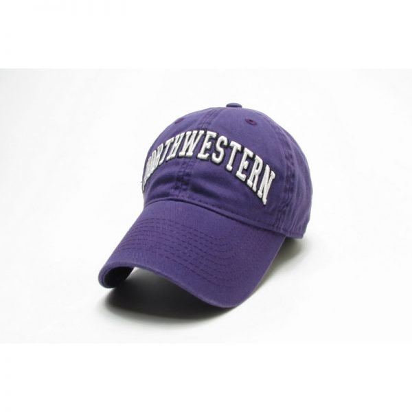 Northwestern Wildcats Legacy Unconstructed Fitted Purple Hat with Arched Northwestern Design