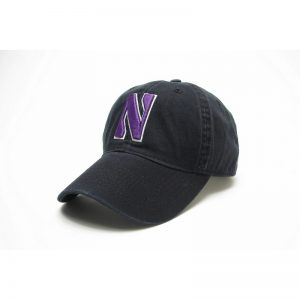 Northwestern Wildcats Legacy Unconstructed Fitted Black Hat with Stylized N Design