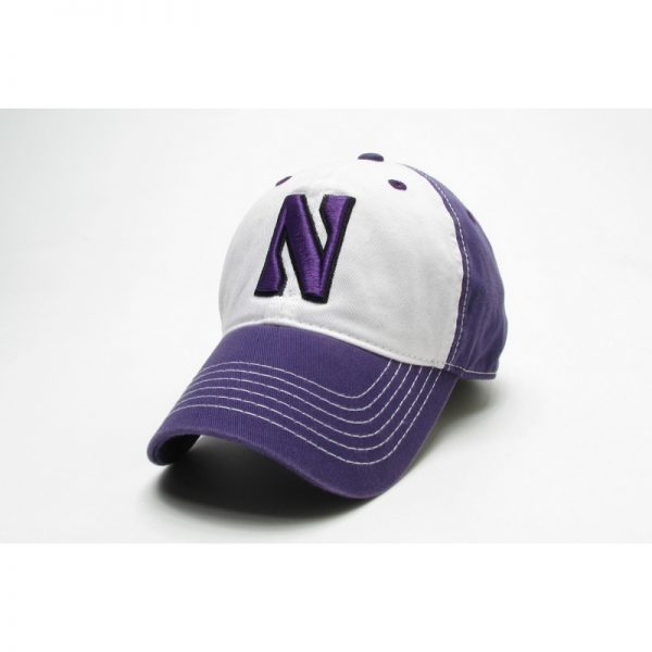 Northwestern Wildcats Legacy Unconstructed Fitted Purple/White Freshman Hat with Stylized N Design