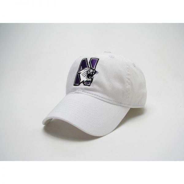 Northwestern Wildcats Legacy Unconstructed Fitted White Hat with N-Cat Design