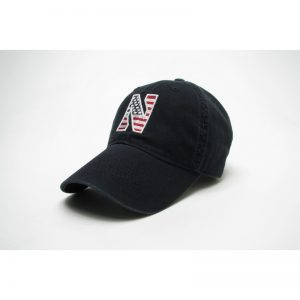 Northwestern Wildcats Legacy Unconstructed Fitted Black Hat with Stylized N American Flag Theme Design