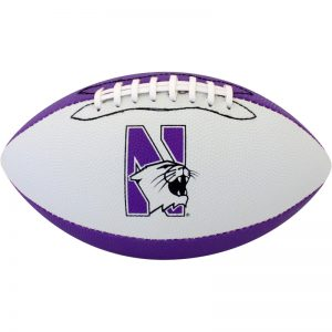 Northwestern Wildcats Rubber Junior Football 10.5""
