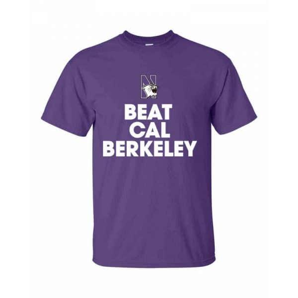 Northwestern Wildcats Beat California Bears Tee Shirt