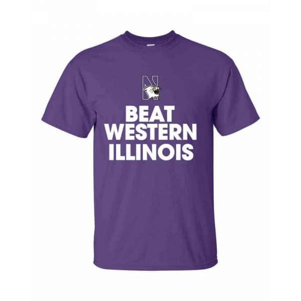 Northwestern Wildcats Beat Western Illinois Tee Shirt
