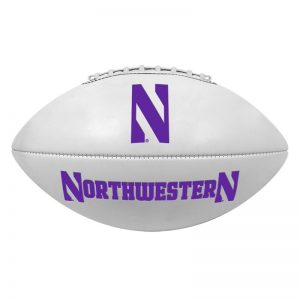Northwestern Wildcats Regulation Size Autograph/Signature Football 11.5""