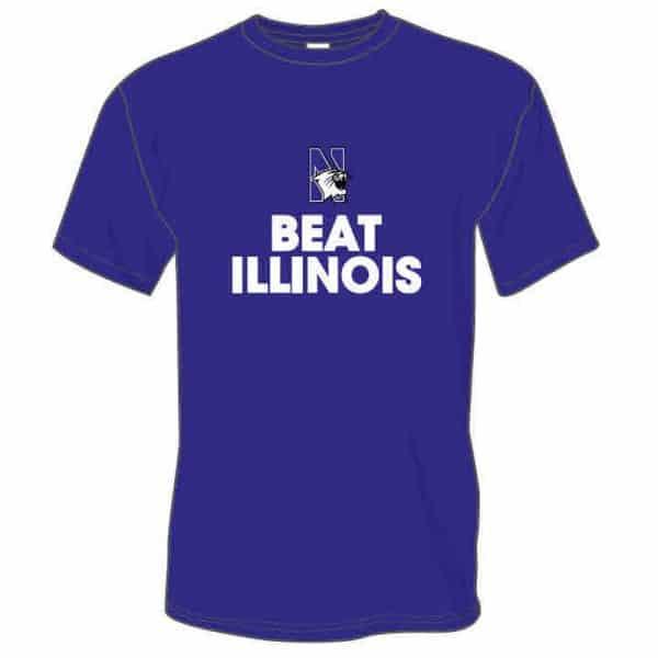 Northwestern Wildcats Beat Illinois Fighting Illini Tee Shirt