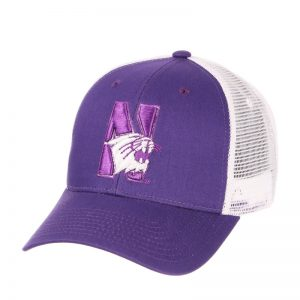 Northwestern Wildcats Zephyr Constructed Adjustable Purple/White Trucker Mesh Hat with N-Cat Design
