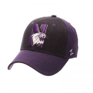 Northwestern Wildcats Zephyr Constructed Flex Fit Super Light Soft Fleck Purple/Black Hat With N-Cat Design