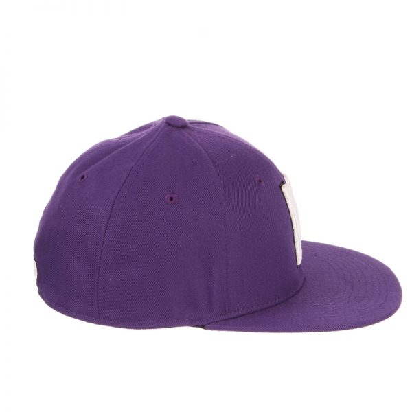 Northwestern Wildcats Zephyr Purple Fitted Hat with Stylized N Design