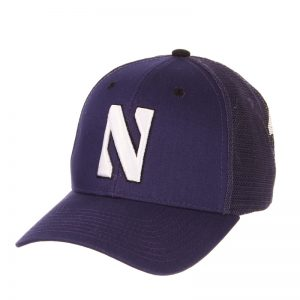 Northwestern Wildcats Zephyr Constructed Adjustable Purple/Purple Trucker Mesh Hat with Stylized N Design