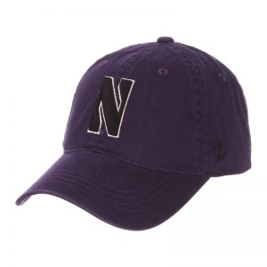 Northwestern Wildcats Zephyr Unconstructed Adjustable Purple Hat with Black Stylized N Design