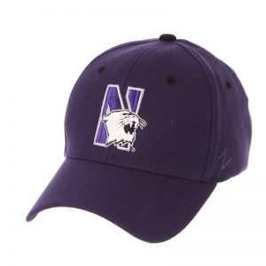 Northwestern Wildcats Zephyr Constructed Flex Fit Dark Purple Hat Multicolor N-Cat Design