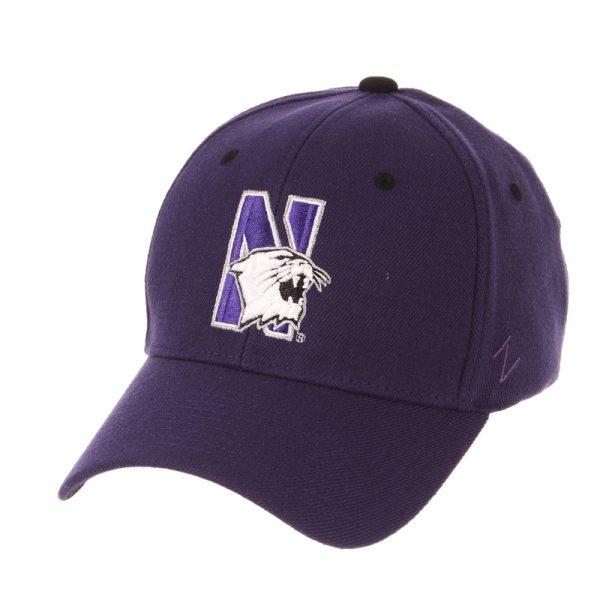 Northwestern Wildcats Zephyr Constructed Flex Fit Dark Purple Hat Multicolor N-Cat Design