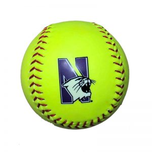 Northwestern Wildcats Regulation Softball Ball with N-cat Logo