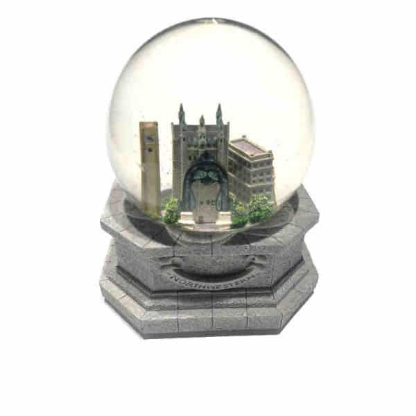 Northwestern Wildcats Water Snow Globe with the Campus Image and Fight Song