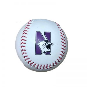 Northwestern Wildcats White Baseball Ball
