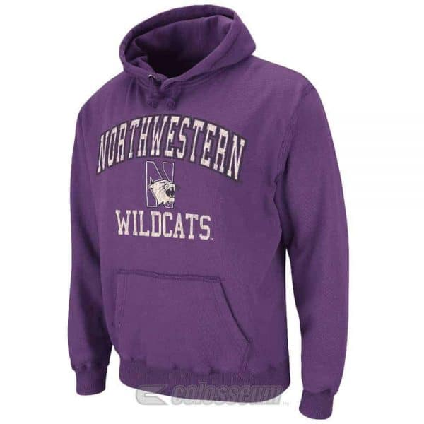 Northwestern Wildcats Colosseum Men's Purple Outlaw Pullover Hoodie
