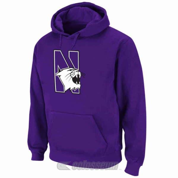 Northwestern Wildcats Colosseum Men's Huddle Fleece Hoodie