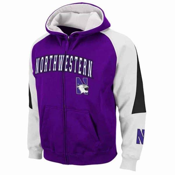 Northwestern Wildcats Colosseum Men's Zip Hood Sweatshirt
