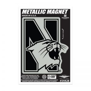 "Northwestern Wildcats Indoor/Outdoor Flexible Metallic Magnet N-Cat Design 2.5""X4"""