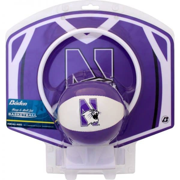 "Northwestern University Wildcats 4"" Softee Basketball With The Hoop"