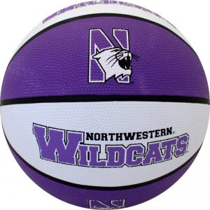 Northwestern University Wildcats Regulation Size Rubber Basketball With N-Cat Design