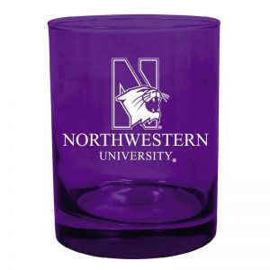 Northwestern University Wildcats 14 oz. Purple Executive Glass with N-Cat Design