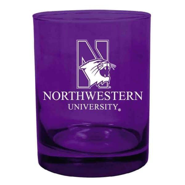 Northwestern University Wildcats 14 oz. Purple Executive Glass with N-Cat Design