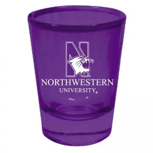 Northwestern Wildcats 1.5 oz. Purple Collector Shot Glass With N-Cat Design