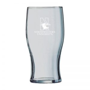 Northwestern University Wildcats 19.5 oz. Laser Engraved Irish Pub With N-Cat Design