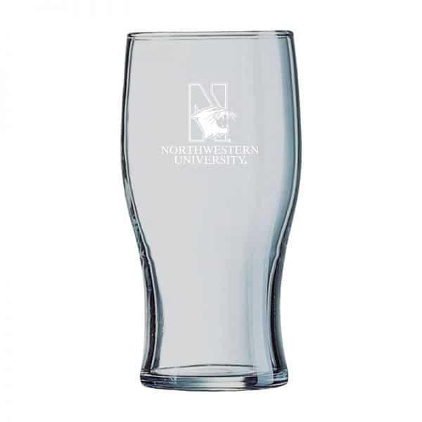 Northwestern University Wildcats 19.5 oz. Laser Engraved Irish Pub With N-Cat Design