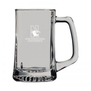 Northwestern University Wildcats 15 oz. Laser Engraved Belgian Mug With N-Cat Design