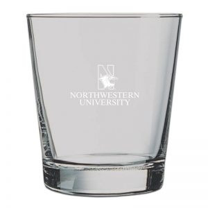 Northwestern University Wildcats 13 oz. Laser Engraved Cocktail Tumbler Glass With N-Cat Design