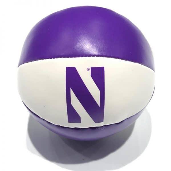 "Northwestern University Wildcats 4"" Softee Basketball With Stylized N Design"