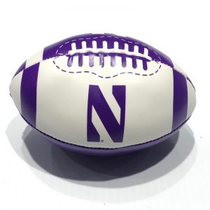 "Northwestern University Wildcats 6"" Softee Football With Stylized N Design"