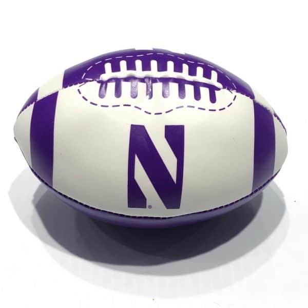 "Northwestern University Wildcats 6"" Softee Football With Stylized N Design"