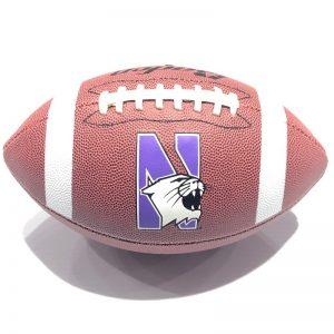 Northwestern University Wildcats Regulation Size Football With N-Cat Design