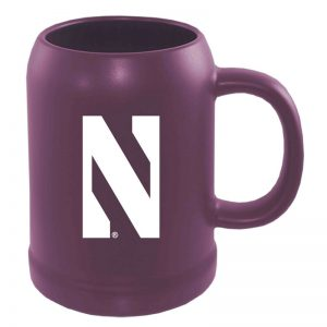 Northwestern University Wildcats 22 oz. Laser Engraved Purple Ceramic Stein With Stylized N Design