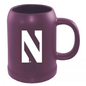 Northwestern University Wildcats 22 oz. Laser Engraved Purple Ceramic Stein With Stylized N Design