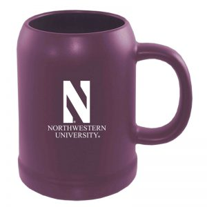 Northwestern University Wildcats 22 oz. Laser Engraved Purple Ceramic Stein With N & Northwestern University Design
