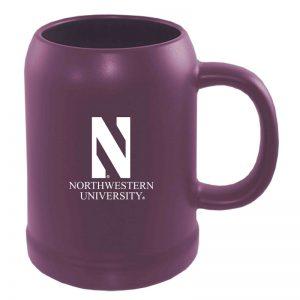 Northwestern University Wildcats 22 oz. Laser Engraved Purple Ceramic Stein With N & Northwestern University Design