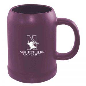 Northwestern University Wildcats 22 oz. Laser Engraved Purple Ceramic Stein With N-Cat Northwestern University Design