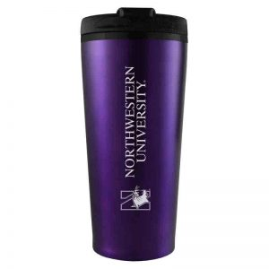 Northwestern University Wildcats 16 oz Laser Engraved Purple Insulated Travel Tumbler