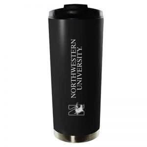 Northwestern University Wildcats 16 oz Laser Engraved Black Vacuum Insulated Travel Tumbler Mug