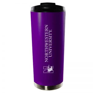 Northwestern University Wildcats 16 oz Laser Engraved Purple Vacuum Insulated Travel Tumbler Mug