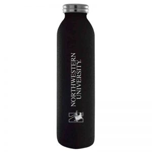 Northwestern University Wildcats 20 oz. Laser Engraved Black Starry Sky Vacuum Insulated Water Bottle With N-Cat Design