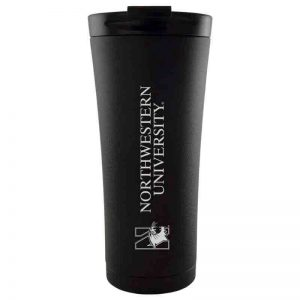 Northwestern University Wildcats 18 oz Laser Engraved Black Starry Sky Travel Tumbler Mug