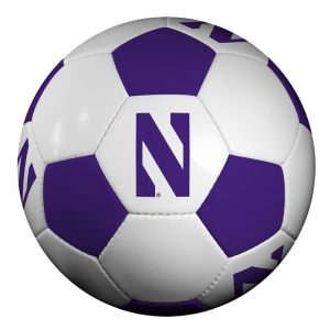 Northwestern University Wildcats Regulation Soccer Ball With Stylized N Design
