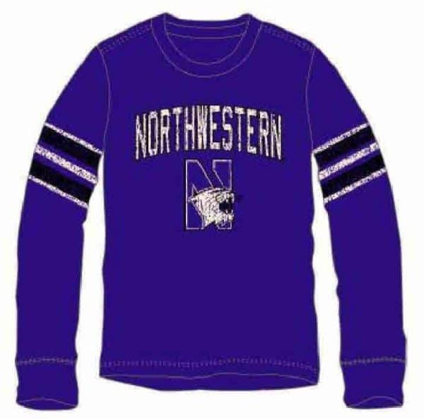 Northwestern Wildcats Colosseum Long Sleeve Tee Shirt
